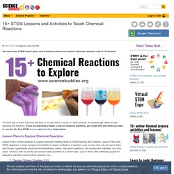 15+ STEM Lessons and Activities to Teach Chemical Reactions