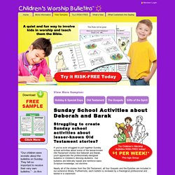 Sunday school activities about Deborah and Barak