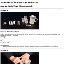 MSI - Online Activities - Analyze Candy Using Chromatography