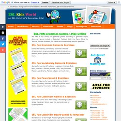 ESL Kids World Online Games and Activities for Classroom Teaching