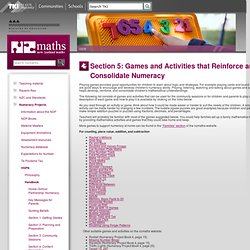 Section 5: Games and Activities that Reinforce and Consolidate Numeracy