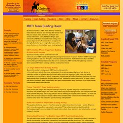 MBTI Team Building Workshop – Myers Briggs Team Building Activities and Exercises