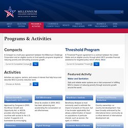 Programs & Activities | MCC | Washington, DC