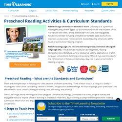 Preschool Reading Activities & Curriculum