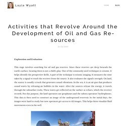 Activities that Revolve Around the Development of Oil and Gas Resources