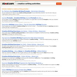 creative writing activities - About.com : Elementary Education