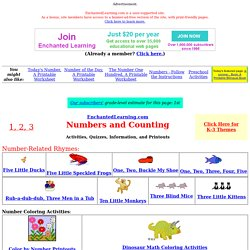 K-3 Number Activities at EnchantedLearning Level 2-4