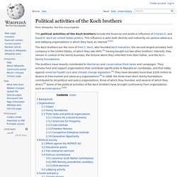 Political activities of the Koch brothers