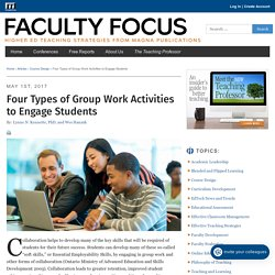 Four Types of Group Work Activities to Engage Students