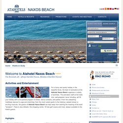Atahotel Naxos Beach - Activities and entertainment