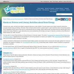Hands-on Science and Literacy Activities about Solar Energy — Energy and the Polar Environment
