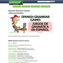 Grammar Games, Activities, Exercises for free - Juegos de Gramática - Español Woodward Chile