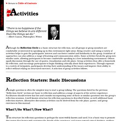 Chapter 5: Activities - Facilitating Reflection: A Manual for Higher Education