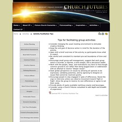 Church-Futures.com:- Foresight-activities:-Group-facilitation-tips