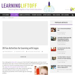 20 Fun Activities for Learning with Legos » K12 - Learning Liftoff - Free Parenting, Education, and Homeschooling Resources