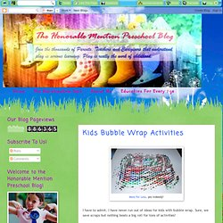 Kids Bubble Wrap Activities | The Honorable Mention Preschool Blog