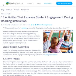14 Classroom Activities That Increase Student Engagement - Reading Horizons