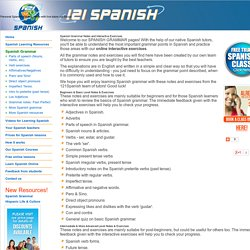 Spanish Grammar - Notes, activities & interactive exercises