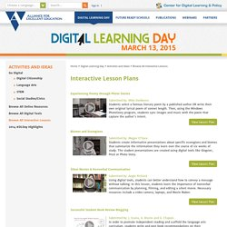 Activities and Ideas / Browse All Interactive Lessons