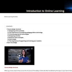 Online Learning Activities - Introduction to Teaching Online