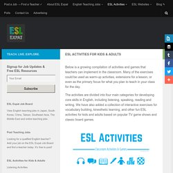 ESL Activities for Kids & Adults
