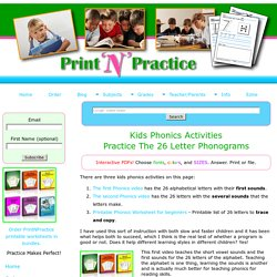 Phonics Activities: Kindergarten Phonics Videos