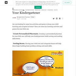 Learning Games and Activities for Your Kindergartener