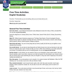 Free Time Activities - Leisure English Vocabulary
