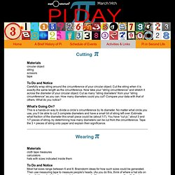 Pi Day: Pi Activities & Links