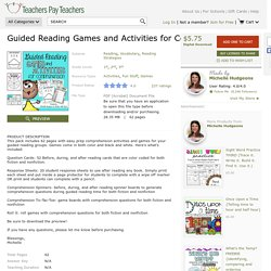 Guided Reading Games and Activities for... by Michelle Hudgeons
