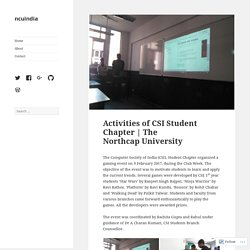 Activities of CSI Student Chapter