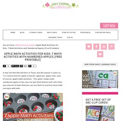 Apple Math Activities for Kids: 7 Math Activities with Numbered Apples [Free Printable] - Early Learning Ideas
