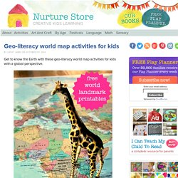 Geo-literacy world map activities for kids