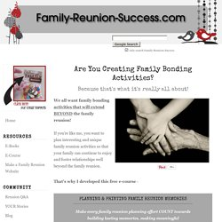 Family Bonding Activities and Personalized Photo Projects for the Family Reunion