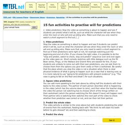 15 fun activities to practise will for predictions