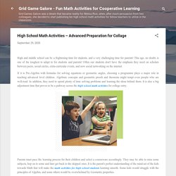 High School Math Activities – Advanced Preparation for Collage