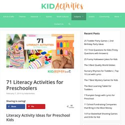 71 Literacy Activities for Preschoolers [Fun Writing and Reading Games for Kids]