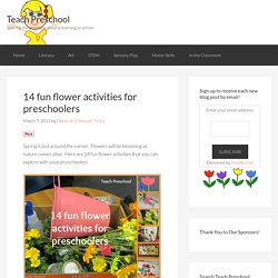 14 fun flower activities for preschoolers