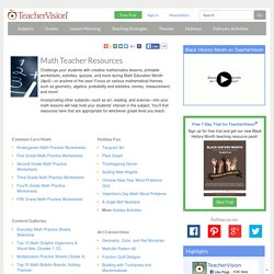 Math Resources for Teachers (Lessons, Activities, Printables: K-12)