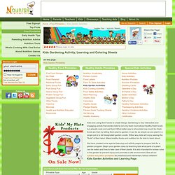 Kids' Healthy Kids' Garden Activities- Teaching Students Gardening, Fun Online Kids' Gardening Activities, Teacher Resources Printables, Worksheets