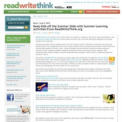 Keep Kids off the Summer Slide with Summer Learning Activities From ReadWriteThink.org