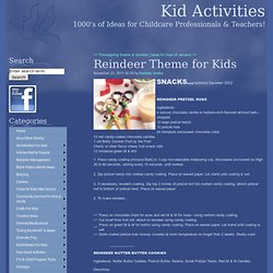 Reindeer Theme for Kids