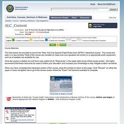Activities, Courses, Seminars & Webinars - ALC_Content - FAA - FAASTeam - FAASafety.gov