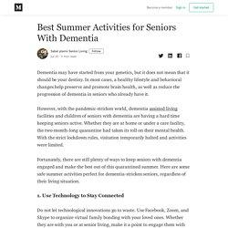 Best Summer Activities for Seniors With Dementia