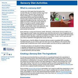 Sensory Diet Activities - SensorySmarts