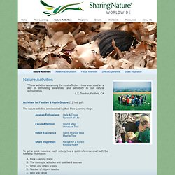 Nature Activities - Sharing Nature Worldwide