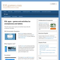 ESL apps - games and activities for smartphones and tablets - ESL games