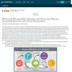 Measure & Manage Sales Activities and Drive your Way to a Successful Business, with Sales Management: mobilesfa