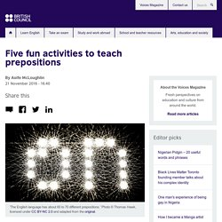 Five fun activities to teach prepositions