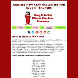 Chinese New Year activities for kids and teachers - kiddyhouse.com